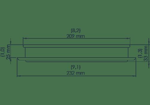 KS Hatch Rim 20 dimensional drawing A