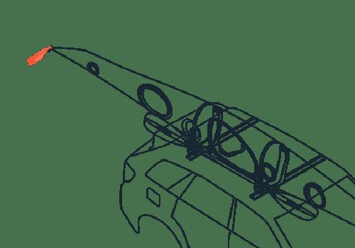 KS Transportation Safety Flag Line Drawing